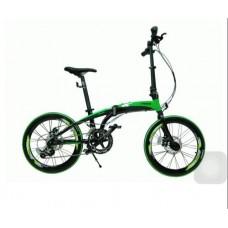 จักรยานพับ TRINX รุ่น DA2018D จักรยานพับ 20 นิ้ว (451) อลูฯ 18 Speeds ดิสเบรค สีเขียว